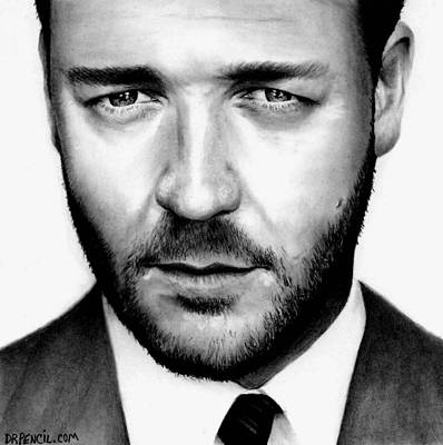 Drawing - Russell Crowe  by Rick Fortson