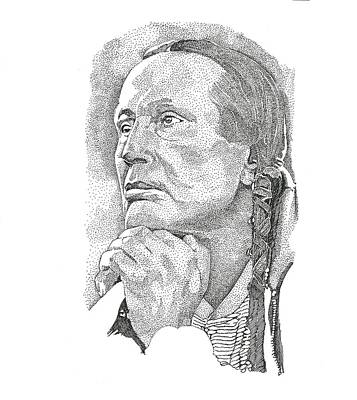 Drawing - Russell Means by Clayton Cannaday