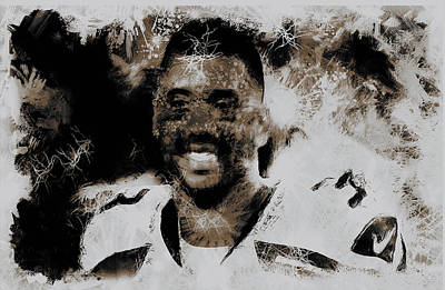 Carrington Mixed Media - Russell Wilson 4e by Brian Reaves