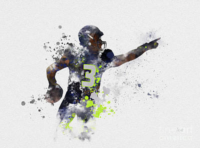 Seattle Mixed Media - Russell Wilson by Rebecca Jenkins