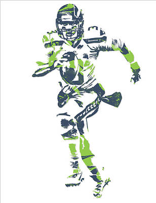 Seattle Mixed Media - Russell Wilson Seattle Seahawks Pixel Art 14 by Joe Hamilton