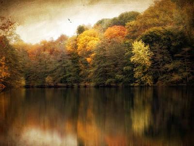 Autumn Landscape Digital Art - Russet River by Jessica Jenney