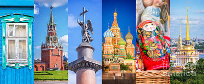 Moscow Wall Art - Photograph - Russia Collage by Delphimages Photo Creations
