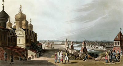 Drawing - Russia, Moscow, 1815 by Granger