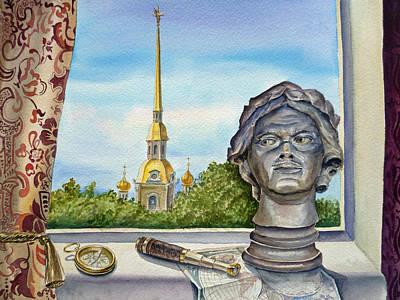 Painting - Russia Saint Petersburg by Irina Sztukowski