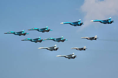 Photograph - Russian Air Force 100th Anniversary by Tim Beach