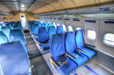 Photograph - Russian Airliner Seating by David Pyatt