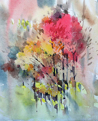 Abstract Painting - Russian Autumn by Natalia Eremeyeva Duarte