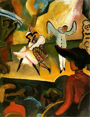 Painting - Russian Ballet  by August Macke