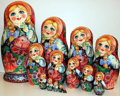 Matryoshka Sculpture - Russian Beauty by Viktoriya Sirris