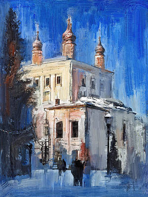 Digital Art - Russian Church In Winter 2 by Yury Malkov