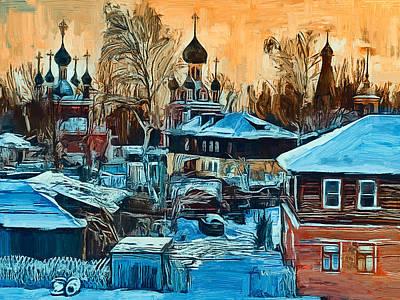 Digital Art - Russian Church In Winter 4 by Yury Malkov