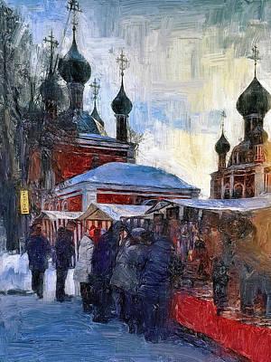 Digital Art - Russian Church In Winter 5 by Yury Malkov