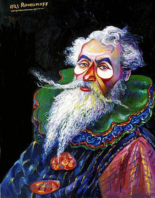 Roussimoff Wall Art - Painting - Russian Clown by Ari Roussimoff