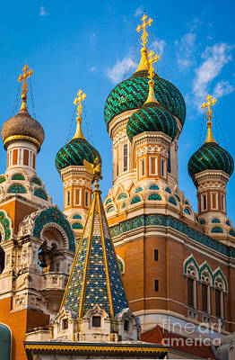 Russian Icon Photograph - Russian Cupolas by Inge Johnsson