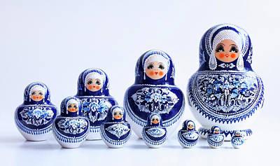 Matryoshka Photograph - Russian Doll House by Iryna Goodall