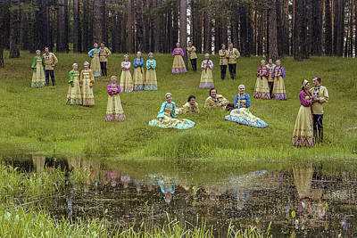 Photograph - Russian Folk Group by Vladimir Kholostykh