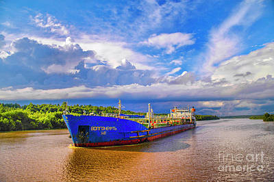 Photograph - Russian Freighter by Rick Bragan