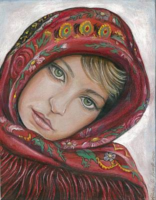 Painting - Russian Girl by Linda Nielsen
