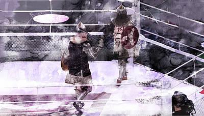 Camelot Drawing - Russian Knight Fight 2 by Jani Heinonen