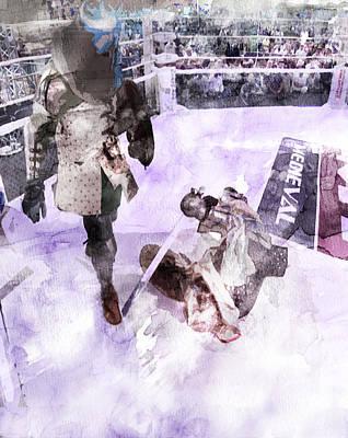 Camelot Drawing - Russian Knight Fight by Jani Heinonen