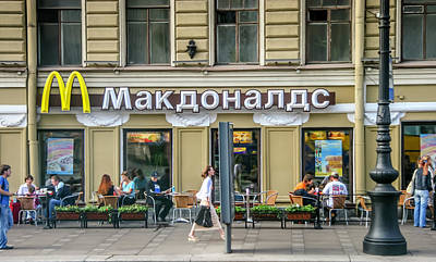 Photograph - Russian Mcdonalds by KG Thienemann