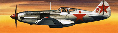 Russian Mikoyan-gurevich Fighter Art Print by Wilf Hardy