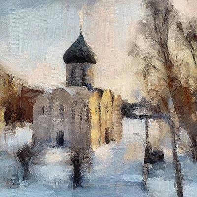 Siberia Digital Art - Russian Monastery Pereslavl 3 by Yury Malkov