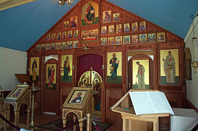 Russian Icon Photograph - Russian Orthodox Icons by Cathy Mahnke