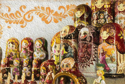 Photograph - Classic Russian Puzzle Dolls by John Williams