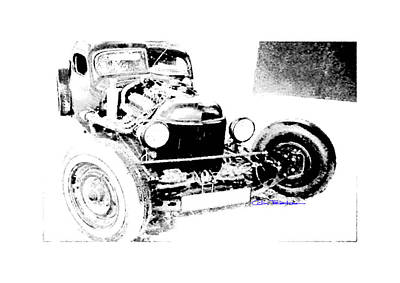 Russian Rat Rod Art Print by MOTORVATE STUDIO Colin Tresadern