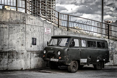 Photograph - Russian Retro Uaz Natural Drive Vehicle by John Williams