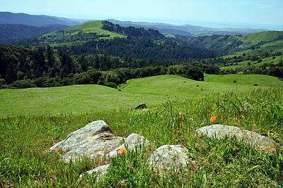 Bay Photograph - Russian Ridge View by Kathy Yates