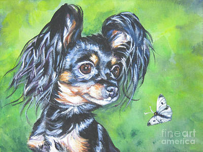 Painting - Russian Toy Terrier by Lee Ann Shepard
