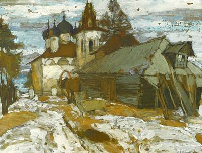 Engel Painting - Russian Village In The Winter by MotionAge Designs