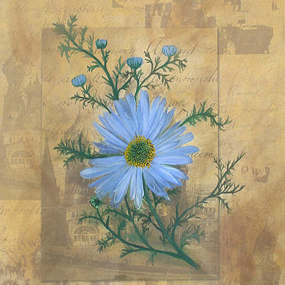 Daiseys Painting - Russias Chamomile by Carrie Jackson