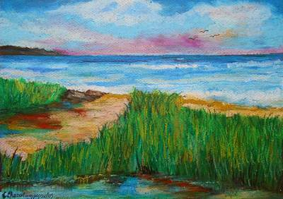 Painting - Russland Beach / Sweden by Constantinos Charalampopoulos