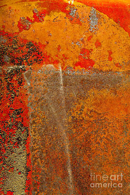 Photograph - Rust Abstract Of Arcs And Rectangles by Sharon Foelz
