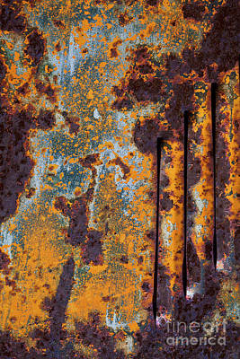 Photograph - Rust Abstract Car Part by Sharon Foelz