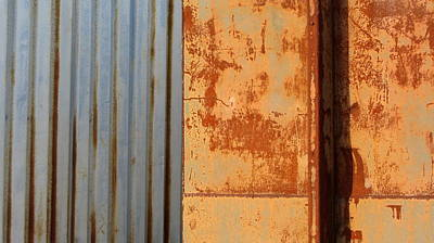 Photograph - Rust And Corrugated by Anita Burgermeister