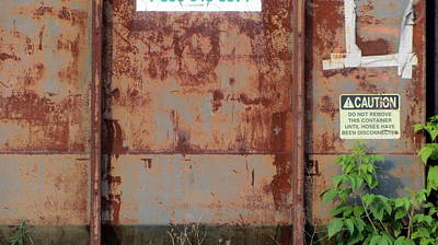 Photograph - Rust And Pale Blue 1 by Anita Burgermeister