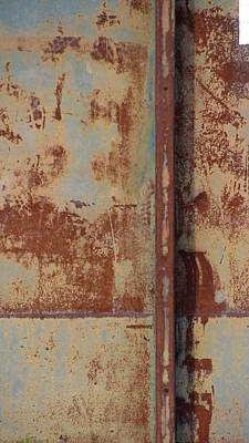 Photograph - Rust And Pale Blue 2 by Anita Burgermeister