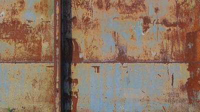 Photograph - Rust And Pale Blue 3 by Anita Burgermeister