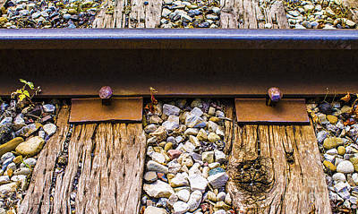 Photograph - Rust And Rail by Nina Silver