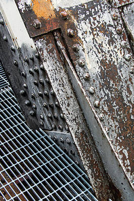 Wine Corks - Rust and Rivets on a Railroad Bridge by Tony Hake