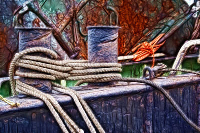 Photograph - Rust And Rope by Cameron Wood