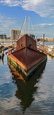 Photograph - Rust Bucket - Baltimore Museum Of Industry by Brian Wallace