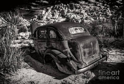 Photograph - Rust Bucket Bw by Sandra Selle Rodriguez