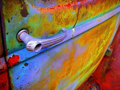 Wall Art - Digital Art - Rust Bucket Door Handle by Mickey Murphy