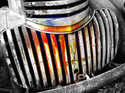 Wall Art - Digital Art - Rust Bucket Grill by Mickey Murphy